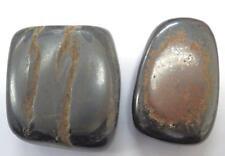 Tumbled Ordinary Grade Tiger's Eye Stone Pair 99.2 gram 62.8 g & 36.4 g