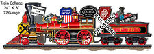 """Railroad Wall Sign - """"Memorable Collections Train Collage"""" / Father's Day Gifts"""