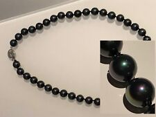 Clearance Sale! 8mm Black Tahitian Pearl Necklace 18inch White Gold ep Clasp