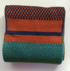 John Lewis & Partners Children's Stripe Knitted Scarf / Multi New With Defect