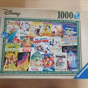 Ravensburger Disney Classic Movie Posters Jigsaw Puzzle 1000 Pieces - Complete