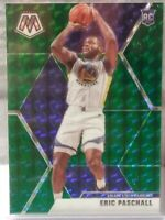 ERIC PASCHALL WARRIORS 2019-20 PANINI MOSAIC GREEN PRIZM PARALLEL SP ROOKIE CARD