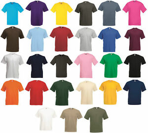 5 or 3 Pack Mens Fruit Of The Loom 100% Cotton  T-Shirts Plain Tee Shirts Top