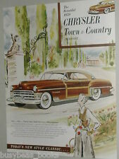 1950 Chrysler advertisement page, Chrysler Town & Country Newport