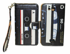 Classic & Retro Cassette Design Wallet Leather Case Kyocera Hydro Wave C6740