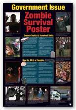 HUMOR POSTER Zombie Survival Guide NEW