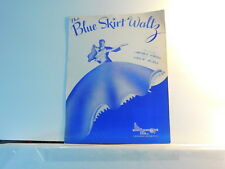 The Blue Skirt Waltz - vintage sheet music by Parish and Blaha 1948