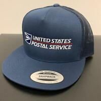 USPS Trucker Mesh Snapback Cap United States Postal Service Hat