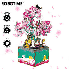 Robotime 3D Wooden Puzzle Music Box Assembly Toy Gift for Girlfriend Kids Women