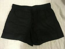 COUNTRY ROAD black linen shorts size 12