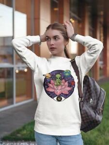 Peaceful Alien! Sweatshirt Women's -Image by Shutterstock