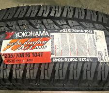 2 New 235 70 16 Yokohama Geolandar A/T G015 Tires
