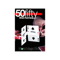 50 Fifty by Brian Kennedy (Gimmick+DVD) Card Magic Tricks Illusions Close up Fun