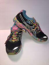 ASICS Gel Noosa Tri 8 Womens Size 11.5  Running Shoes Black/Rainbow T356N