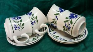 Vintage 1980s Churchill England Salzburg Cups and Saucers set of 4