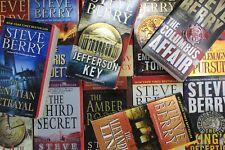 Lot of 10 Steve Berry Thriller Mass Market Paperback Books MIX