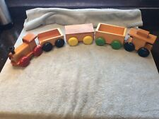 Hand Crafted Wooden Train 6 Piece Set Childs Toy Handmade JVZ Cape Cod Ma Stamp