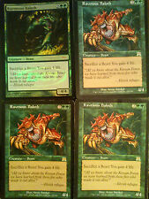 MTG Magic the Gathering Ravenous Baloth x4 from Onslaught 1 DCI Promo VG/EX