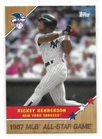 2017 Topps On-Demand Set 3 - Rickey Henderson MLB A.S.G. Homage to '87 /1722