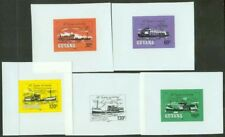 Guyana 1983 River Steamers glossy plastic MASTER PROOFS