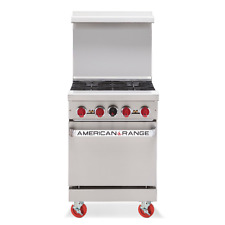 American Range Ar 4 24 Inch Heavy Duty 4 Burner Gas Range Standard Oven