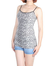 D2D Women's Sexy Casual Long Leopard Pattern Adjustable Strap Cami Tank Top