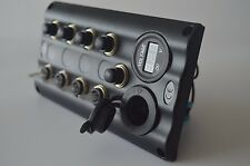 4 GANG LED WATERPROOF MARINE/BOAT TOGGLE SWITCH PANEL POWER SOCKET+VOLTMETER -BM
