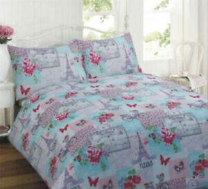 Rapport Parisienne Patchwork Double Duvet Set Bedding Bed Quilt Cover Pillow SH2