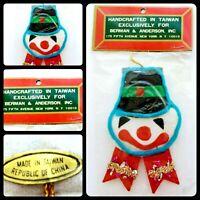 Vintage Toy Soldier Felt Ornament 60s Drummer Boy Taiwan Original Package