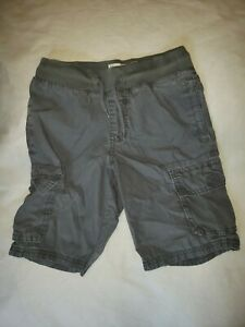Old Navy Boys Shorts 6-7 Gray Stretch Waist Band Cargo Pockets Casual