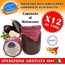 Caponata Siciliana 180gr in Barattolo Olio Extravergine di Oliva + Pasta Cucina