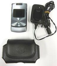 Motorola Razr V3xx - Dark Platinum ( At&T ) Flip Phone - Bundled / Great Shape