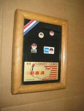 Great Britain Limited Edition Framed 1984 Olympic Pin Set