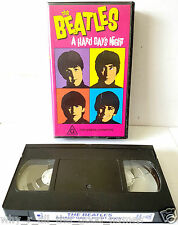 Vintage THE BEATLES - A HARD DAY'S NIGHT : VHS Video Cassette Tape 9311455400668