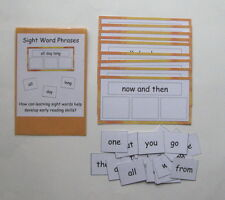 Teacher Made Literacy Center Learning Resource Game Sight Word Phrases