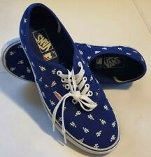 Vans x MLB Los Angeles Dodgers Mens Shoes Size 12 LowTop Canvas Blue LA All Over