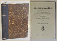 Graetzer Excerpta medica Journalauszüge 1. Jahrgang 1892  Studium Medizin xy