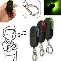 Wireless Anti-Lost Alarm Key Finder Locator Keychain Whistle Sound LED Light SK
