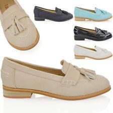d777012d4ae Womens Flat Slip On Tassel Loafers Ladies School Work Pumps Brogues Shoes  Size