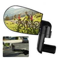 Universal Mini Bicycle Handlebar Rearview Mirror Rotating MTB Cycling Safety UK