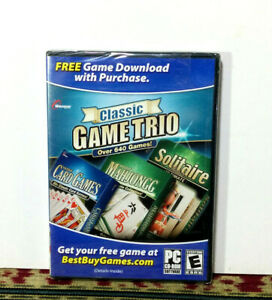 Classic Game Trio: Card Games, Solitaire, Mahjongg - 2008, Windows 95/ 98 SEALED