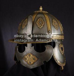 Medieval 14 Gauge Steel Zischage of winged-hussars Helmet XVII c