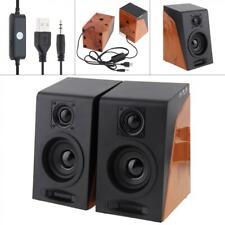3.5mm Full Antimagnetic USB Computer Speakers Stereo Jack for Desktop PC Laptop