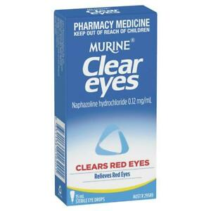 FREE SAME DAY POSTAGE! - MURINE CLEAR EYES CLEARS RED EYES WHITENS EYES 15ML