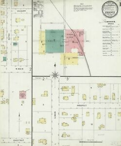 Andover, Ohio Sanborn map sheets in color made 1896 to 1926 in COLOR