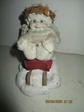 Dreamsicles by Kristin Cherub On Sled Figurine 1991