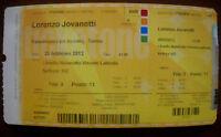 Lorenzo Jovanotti - Biglietto concerto al Palaolimpico di Torino del 25/02/2012