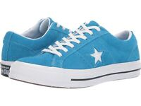 Mens Converse One Star OX Blue Hero Suede Leather Shoes MSRP $80 Size 11.5 & 13