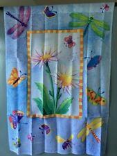 """Decorative Garden Flag Large 39"""" x 27"""" Spring/ Summer Garden Butterflies"""
