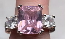 Pink 3 Stone cocktail ring size 5